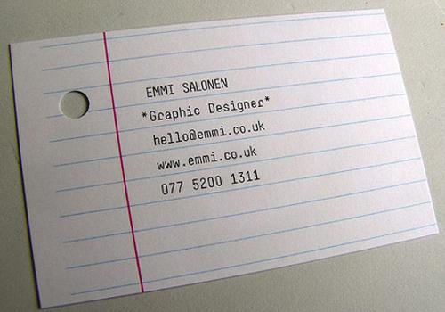 Unusual Business Card
