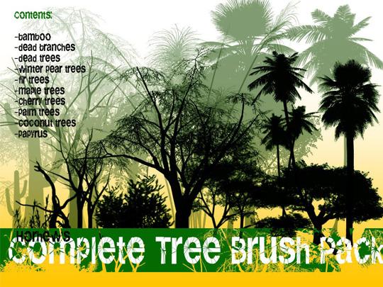 Free Photoshop Tree Brushes