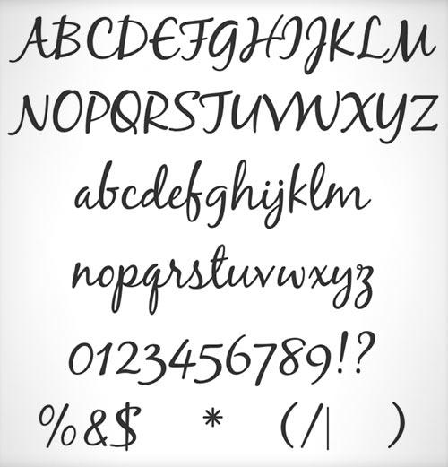 Blackjack normal font