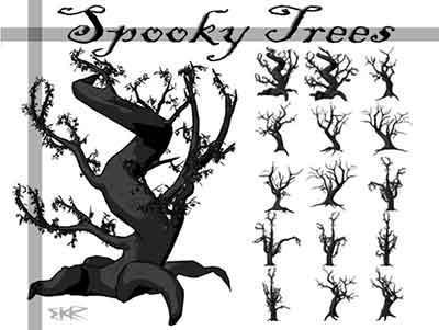 36 Free Photoshop Tree Brushes - GeekSucks