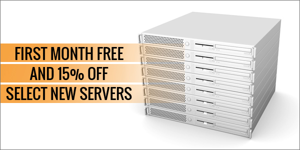First month free dedicated server