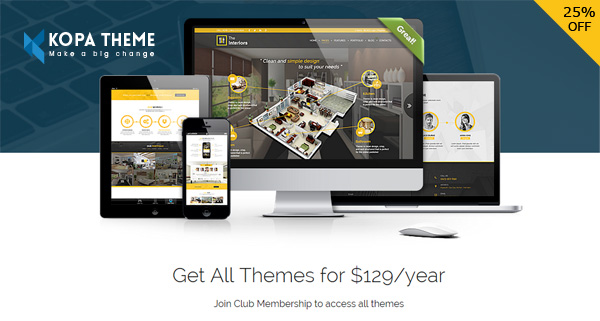 Kopa Theme - 25% Off Exclusive Coupon