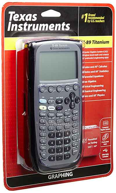 Texas-Instruments-TI-89-Titanium-Graphing-Calculator - 3rd best graphing calculator for engineers and engineering students